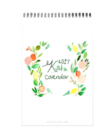 2017 Kitchen Watercolor Calendar