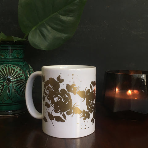 Gold Floral Mug - Mai Autumn - Mugs