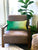 Green Ombre Throw Pillow
