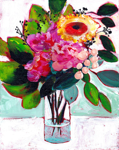 July's Flowers Original Painting