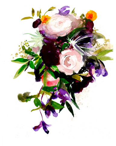 Custom Wedding Bouquet Paintings