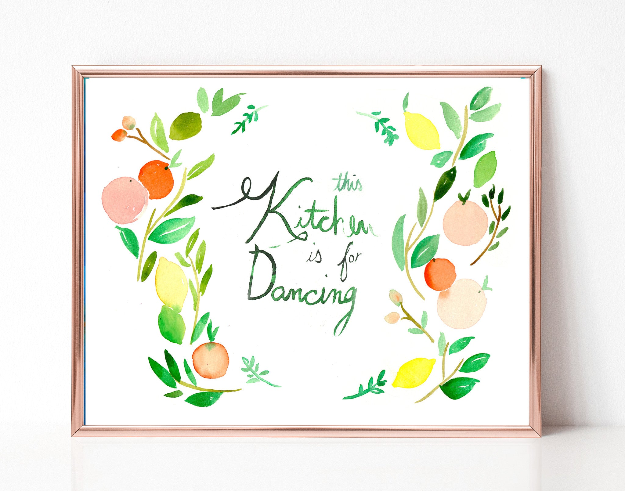 picture relating to Kitchen Printable named This Kitchen area is for Dancing - Printable Wall Artwork - Mai Autumn