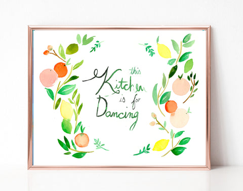 This Kitchen is for Dancing - Printable Wall Art
