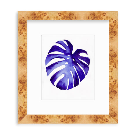 'Indigo Monstera I' Original Watercolor