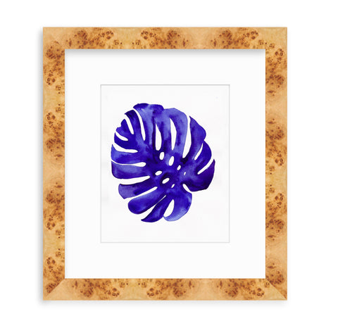 'Indigo Monstera II' Original Watercolor