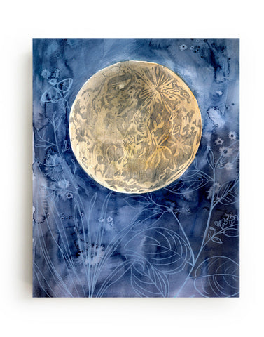 Moon Garden Canvas Print
