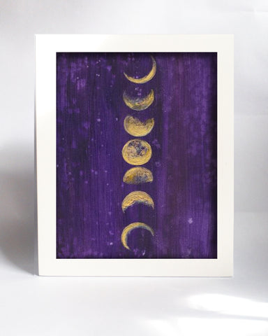 Framed Mini Print - Moon Phases - Ready to Hang - Mai Autumn - Mini Framed Print