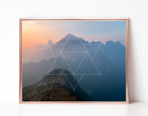 Mountain Sunset - Printable Wall Art