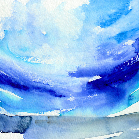 Oceanscape I Original Painting - Mai Autumn - Original Art