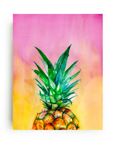 Ombre Pineapple Canvas