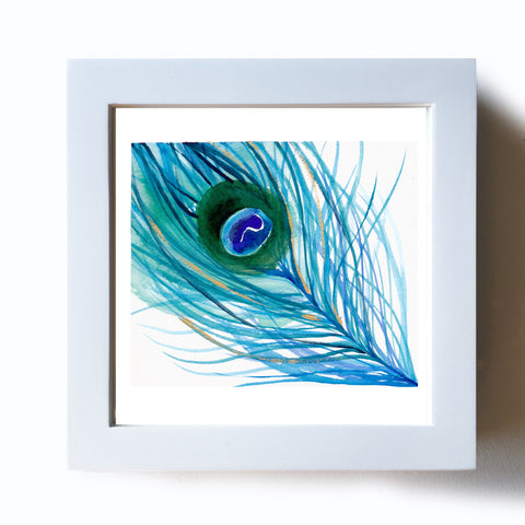 Peacock Feather V Original - Mai Autumn - Original Art
