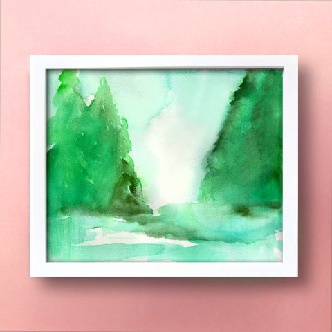 Pines II Original Painting - Mai Autumn - Original Art