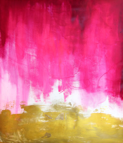 Pink and Gold Abstract - Mai Autumn - Artwork
