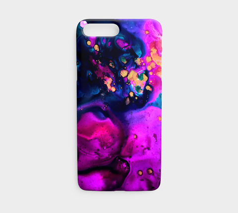 Magenta and Gold Phone Case - Mai Autumn - Phone Cases