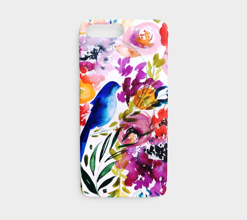 Bluebird Amongst the Blooms Phone Case - Mai Autumn - Phone Cases