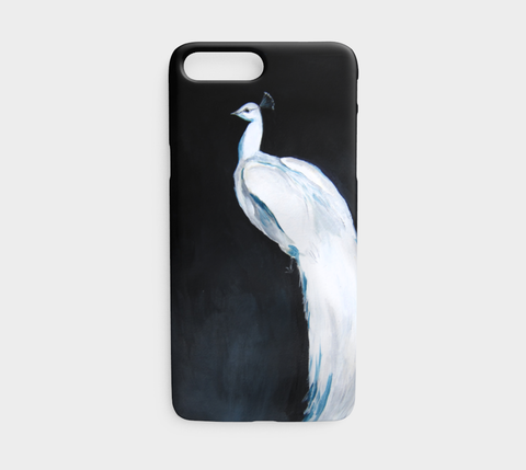 White Peacock Phone Case