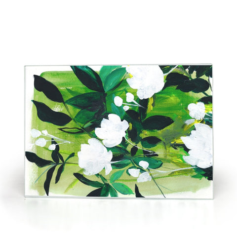 Jungle Abstract Glass Cutting Board