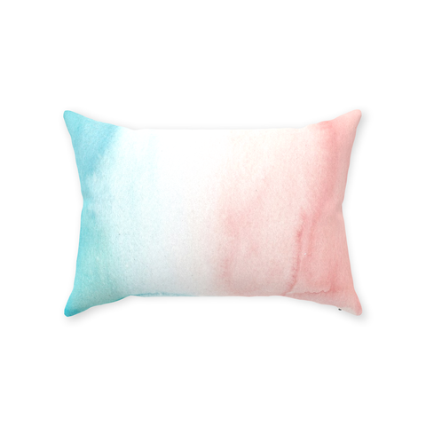 Peach Turquoise Ombre Pillow