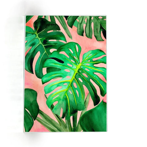 Monstera Glass Cutting Board