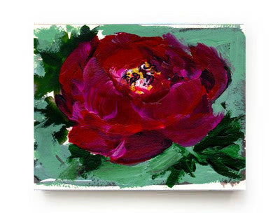 Red Peony Canvas Print - Mai Autumn - canvas prints