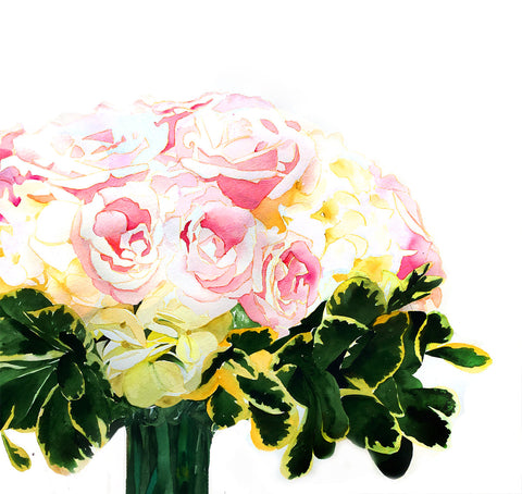 Custom Wedding Bouquet Paintings - Mai Autumn - Original Art