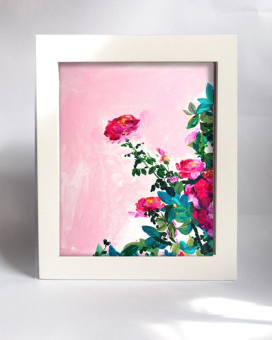 Framed Mini Print - Rose Garden I - Ready to Hang - Mai Autumn - Mini Framed Print