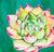 Succulent I Original Painting - Mai Autumn - Original Art