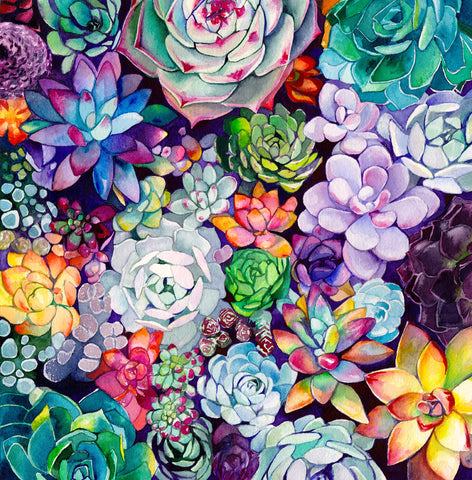 Succulent Garden - Mai Autumn - Artwork