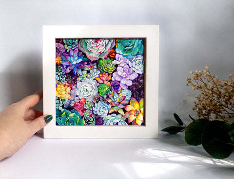 Framed Mini Print - Succulent Garden - Ready to Hang - Mai Autumn - Mini Framed Print