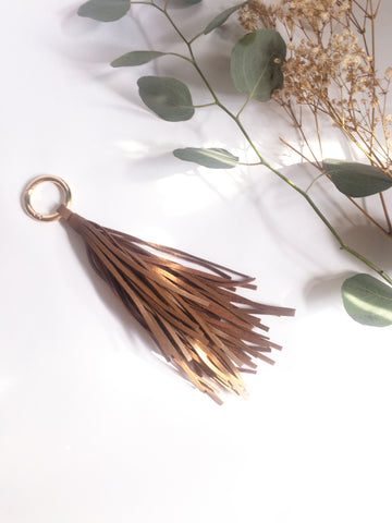 Vegan Leather Tassel Keychain - Mai Autumn - Keychain
