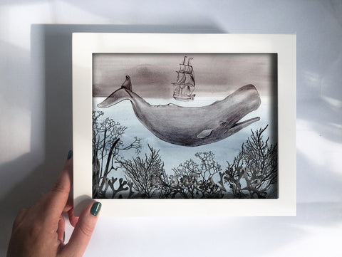 Framed Mini Print - The Sea - Ready to Hang - Mai Autumn - Mini Framed Print