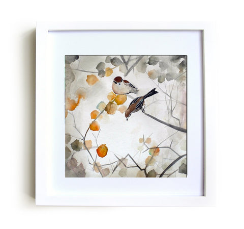 Fall Framed Print in White