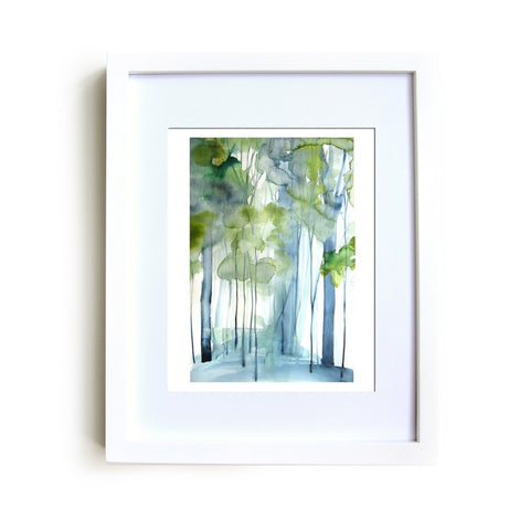 New Growth Framed Print in White