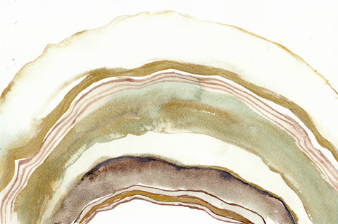 'White Agate Watercolor' Original Painting