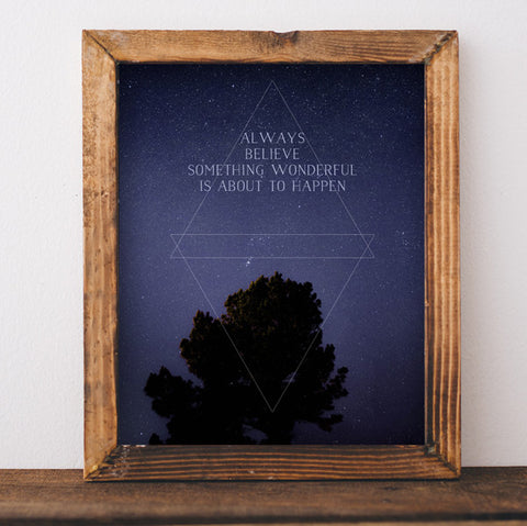 Always Believe - Printable Wall Art