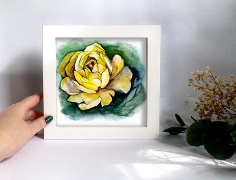 Yellow Peony Original Painting - Mai Autumn - Original Art