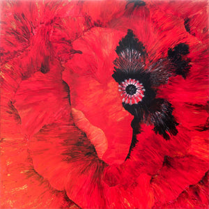 "Red Poppy Original 48"" x 48"""
