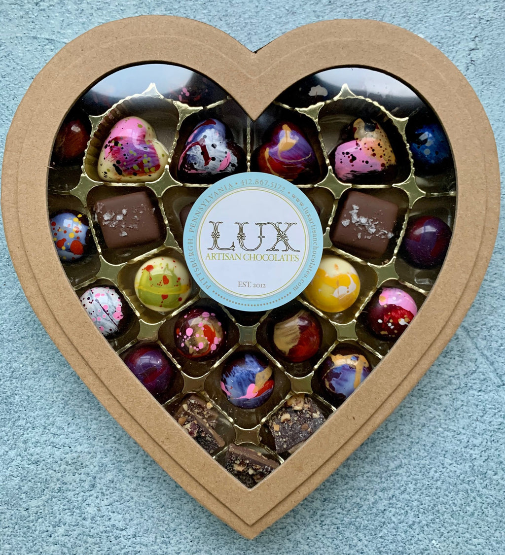 29 Piece Bonbon Heart Shaped Box for Valentine's Day