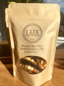 Peanut Brittle - Quarter Pound Bag (Dark Chocolate)