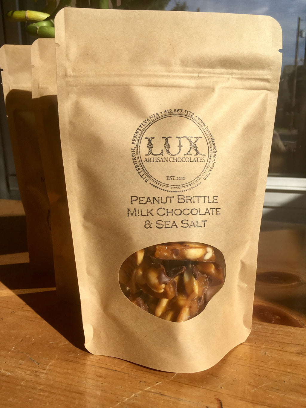 Peanut Brittle - Quarter Pound Bag (Milk Chocolate)