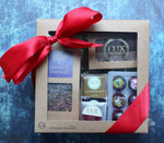 Loose Leaf Tea, Six Piece Bonbon, Six Piece Sea Salt Caramel, and Chocolate Squares Gift Box