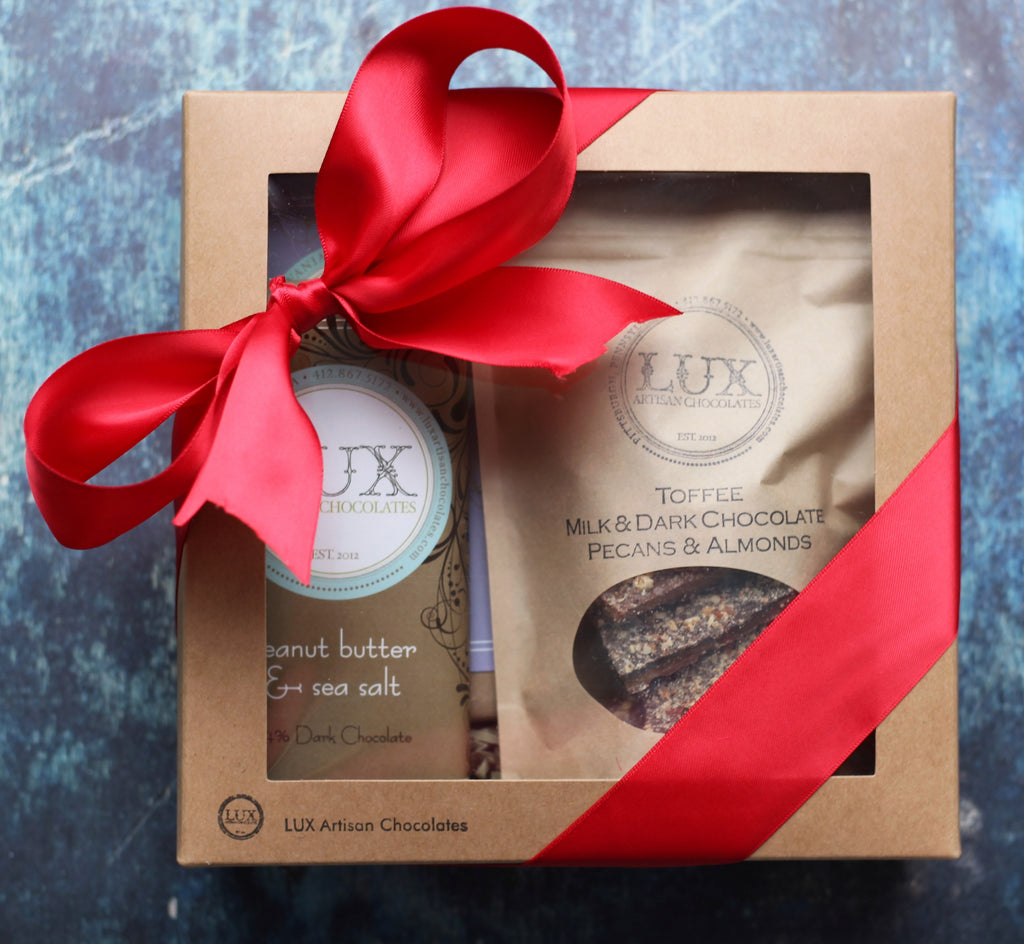 Artisanal Chocolate Bars and Toffee Gift Box