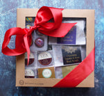 Loose Leaf Tea Sampler, Six Piece Bonbon or Sea Salt Caramels, and Artisanal Chocolate Squares Gift Box