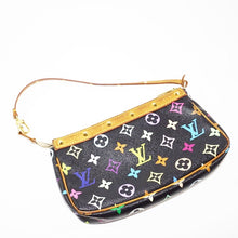 Load image into Gallery viewer, Louis Vuitton Multi Color Black Mini Pochette Handbag