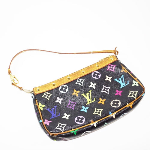 Louis Vuitton Multi Color Black Mini Pochette Handbag