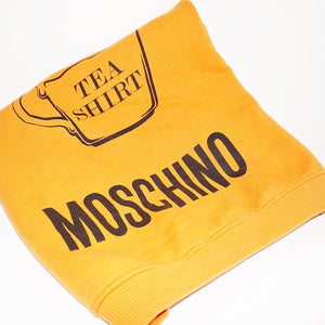 Moschino Orange Logo Crew Neck Sweater