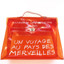 Load image into Gallery viewer, Hermes Orange Transparent Vinyl Kelly Handbag