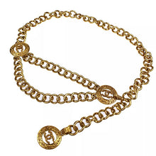 Load image into Gallery viewer, Chanel Gold CC Logo Chain Waist Belt