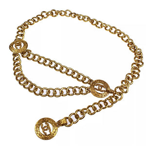 Chanel Gold CC Logo Chain Waist Belt