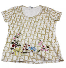 Load image into Gallery viewer, Dior Trotter Print Beige Tee